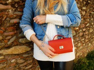 Red details with my new Belle Clutch
