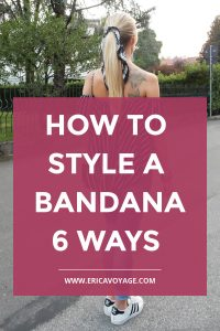 Bandanas are the ultimate must-have. Certain trends have become more popular over time. I created a post where I show you how to style a bandana.