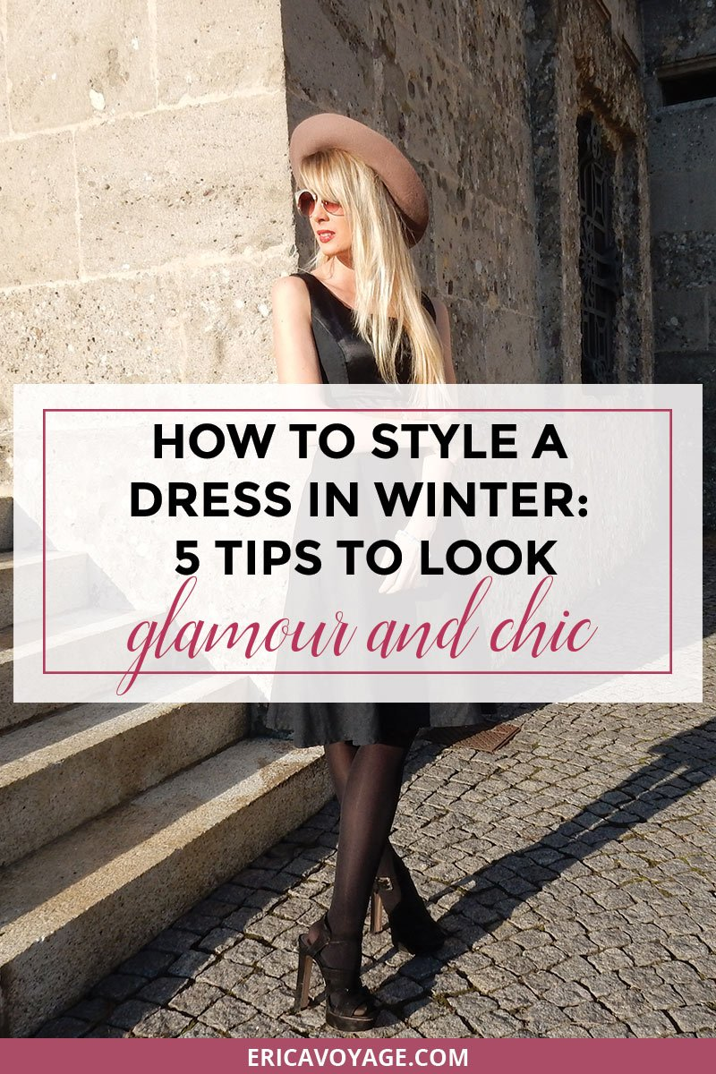 How to style a dress in winter: 5 tips to look glamour and chic