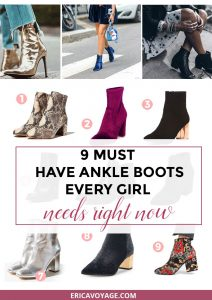 A must have that every girl need right now are the ankle boots! Whether you're into velvet, leather or metallic one of these pairs will match your style