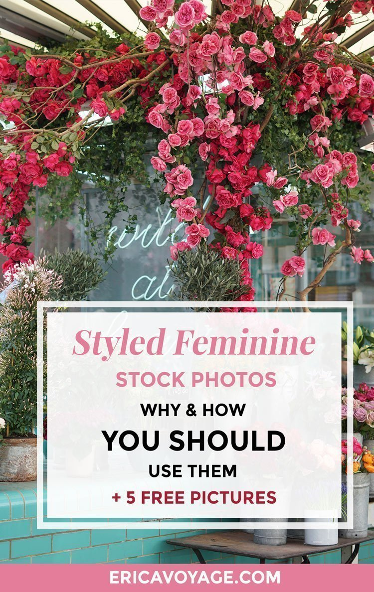 Styled feminine stock photos: why, how and when you should use them