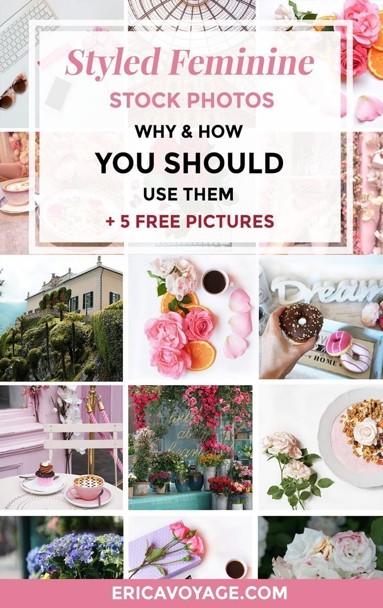 Styled feminine stock photos: why, how and when you should use them. it's important to use professional images to attract your ideal clients.